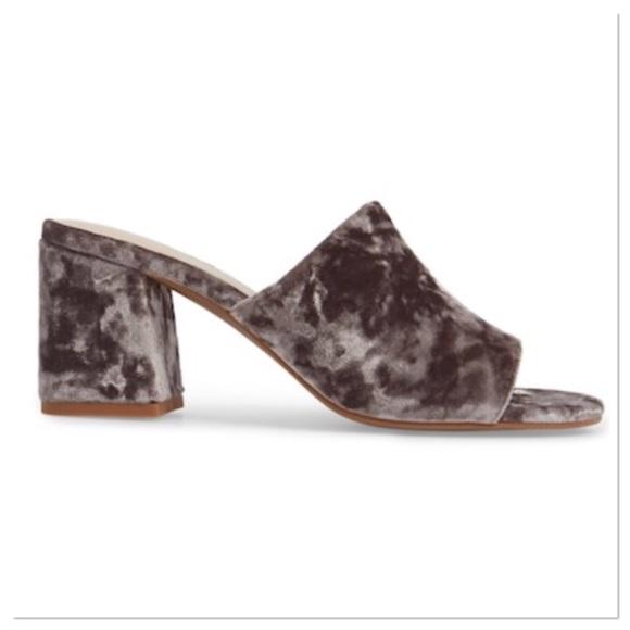 59ab478ed47 Seychelles Commute Grey Velvet Mule slide sandal